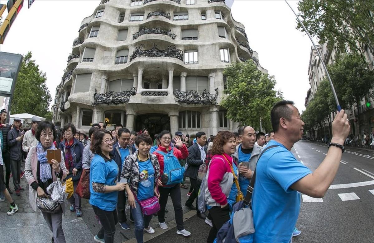 Trabajadores de Tien en Barcelona